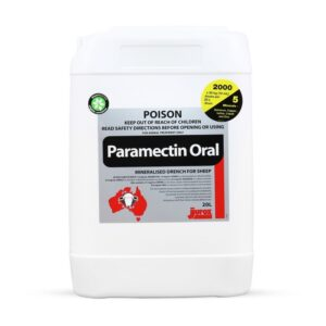 Paramectin Oral Mineralised Drench For Sheep 20L