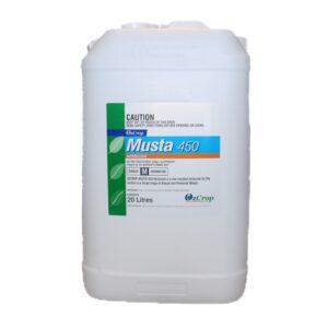 Ozcrop Glyphosate Musta 450 Herbicide 20 L I