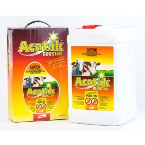 Acatak Duostar Ivermectin Fluazuron Tick Development Inhibitor and Braod Spectrum Pour-on 5-Litre & 25-Litre