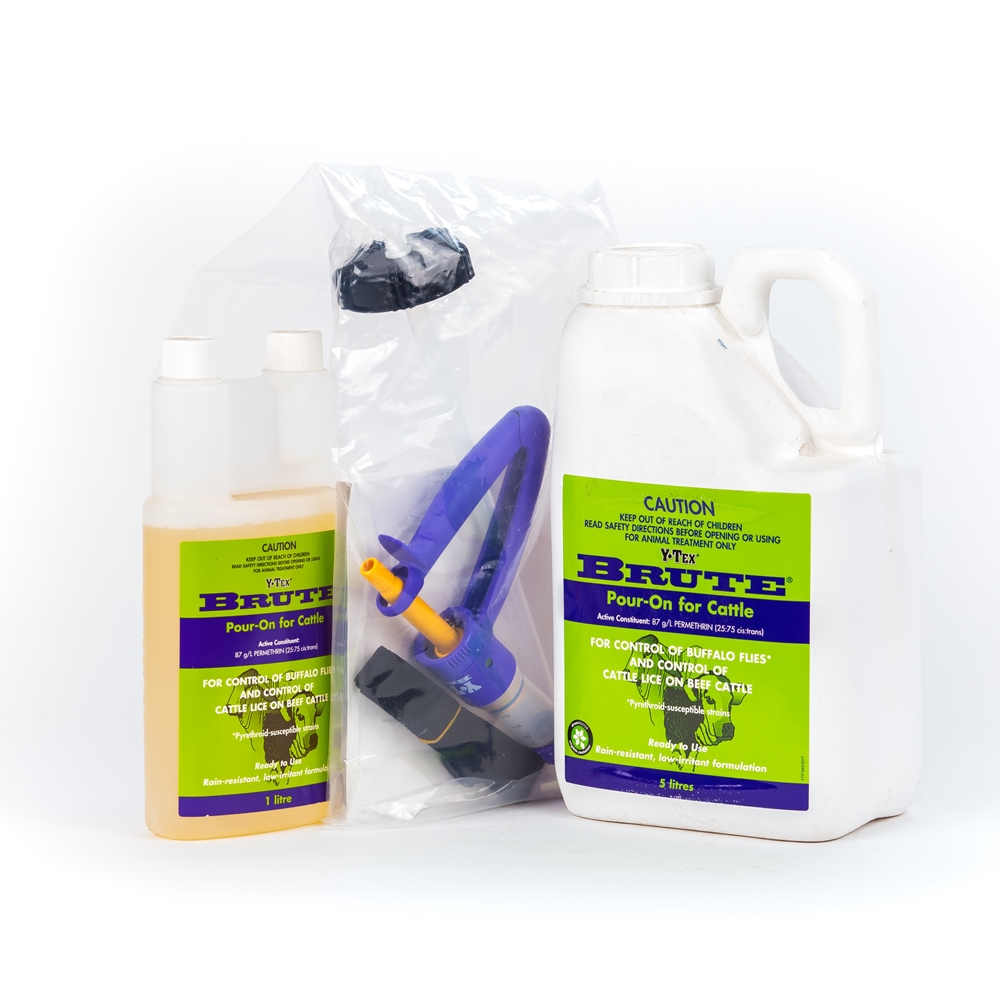 Y-Tex Brute Pour-On For Cattle (Permethrin)