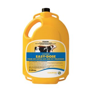 Coopers Easy-Dose Pour-on Cattle Lice And Fly Treatment 5-Litre